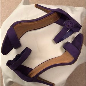 Anne Michelle purple single strap heels.